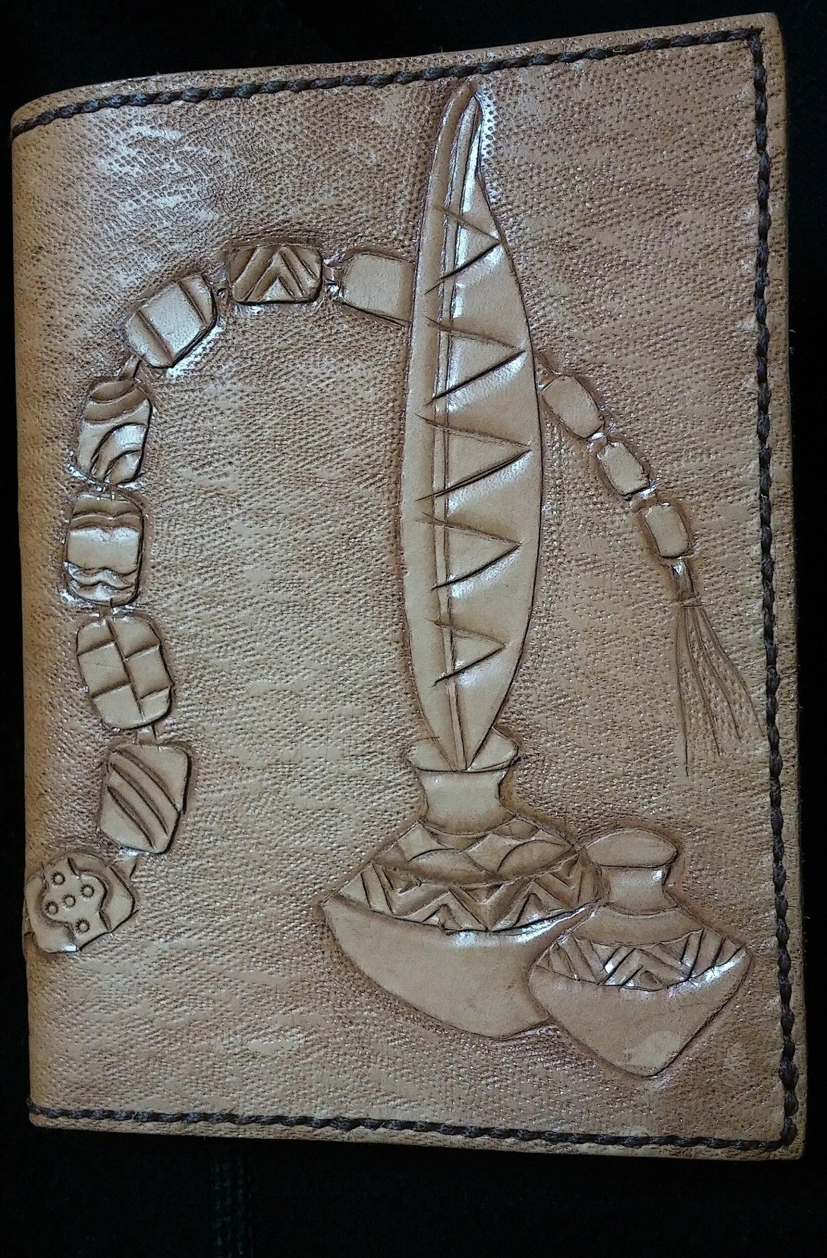 手工皮雕 原民風飾品圖騰 筆記本 1