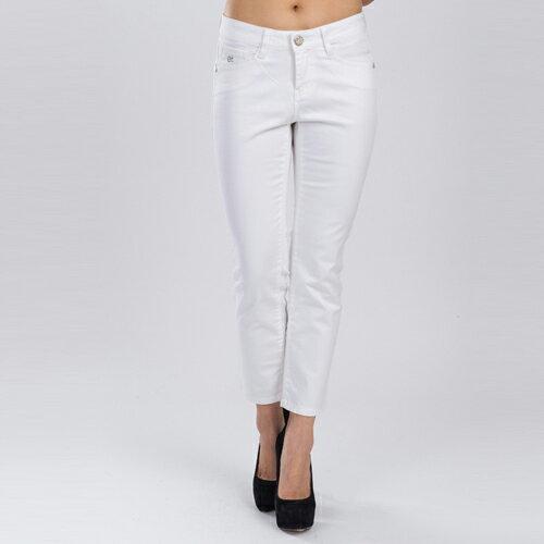 【ET BOîTE 箱子】 海洋風白色九分直筒褲 0