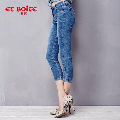 【ET BOiTE 箱子】拉繩單口袋JEGGING 2色 1
