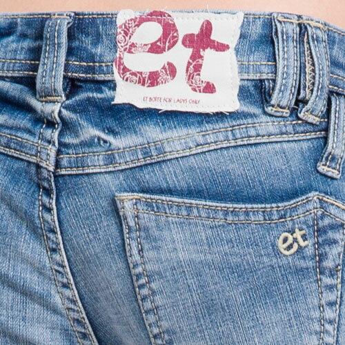 【ET BOîTE  箱子】 ET別針七分牛仔褲 1