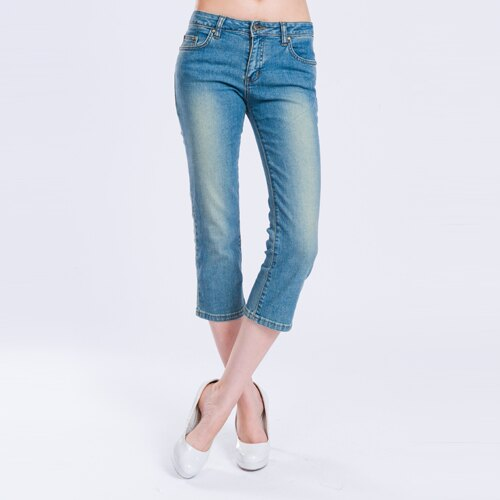 【ET BOîTE  箱子】 低腰細直七分牛仔褲 0