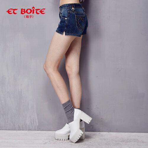 調細牛仔短褲(S-XL)