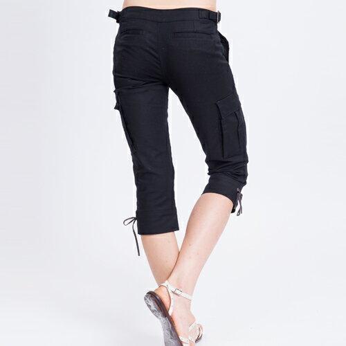 【ET BOiTE 箱子】  貼袋褲口綁繩七分牛仔褲 1