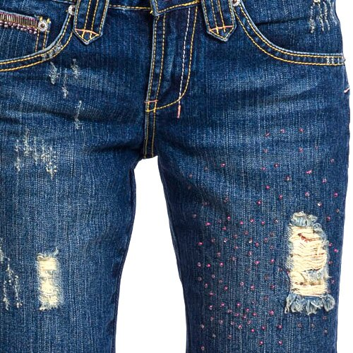【ET BOiTE 箱子】縫珠抓破低腰短褲 1