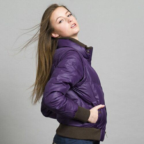 【ET BOiTE 箱子】穿脫袖羽絨衣(紫色) 1