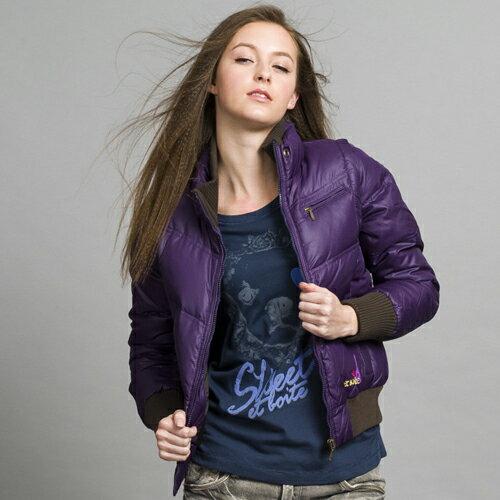 【ET BOiTE 箱子】穿脫袖羽絨衣(紫色) 0