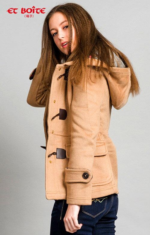 【ET BOîTE 箱子】牛角釦毛呢外套 1