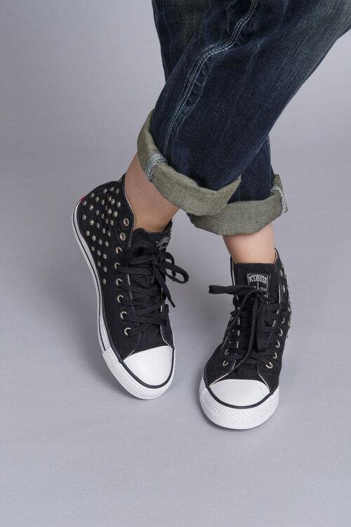 【ET BOîTE 箱子】水洗鉚釘高筒帆布鞋 0