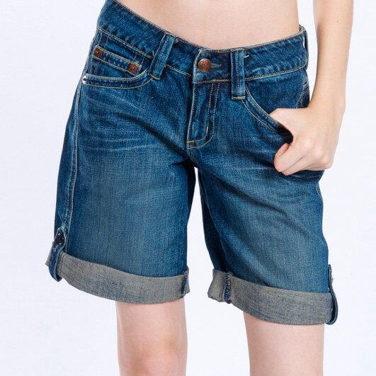 【ET BOîTE 箱子】 貼袋五分牛仔褲