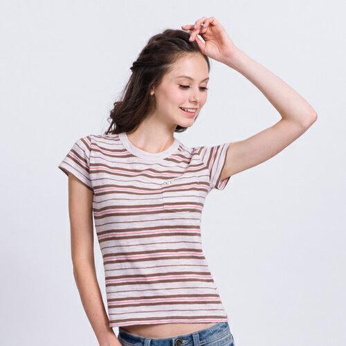 【ET BOîTE 箱子】 休閒彩條短袖T恤 0