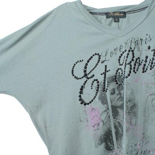 【ET BOiTE 箱子】女人畫像串珠連袖T恤 1
