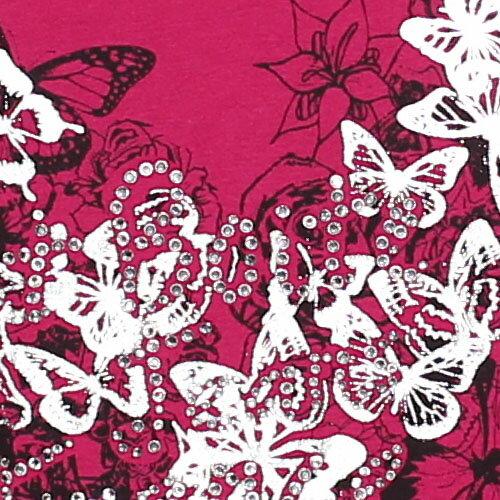 【ET BOiTE 箱子】蝴蝶貼鑽印花長T恤 1