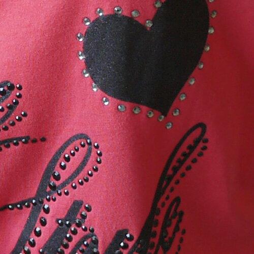 【ET BOîTE 箱子】愛心貼鑽長袖T恤(桃粉) 1