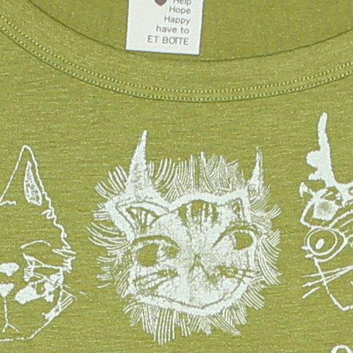 【ET BOiTE 箱子】趣味動物長袖T恤 1