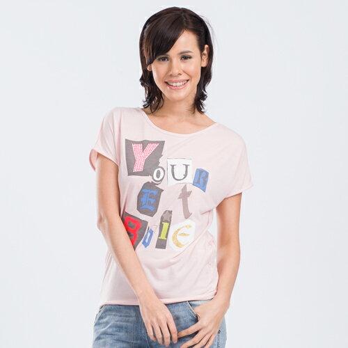 【ET BOiTE 箱子】印花字貼鑽T恤 0