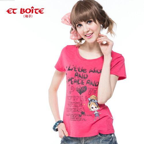 【ET BOiTE 箱子】ET AMOUR ALICE娃娃T恤 0