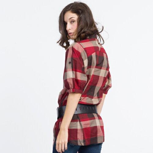 【ET BOiTE 箱子】  附腰帶大泡袖襯衫 1