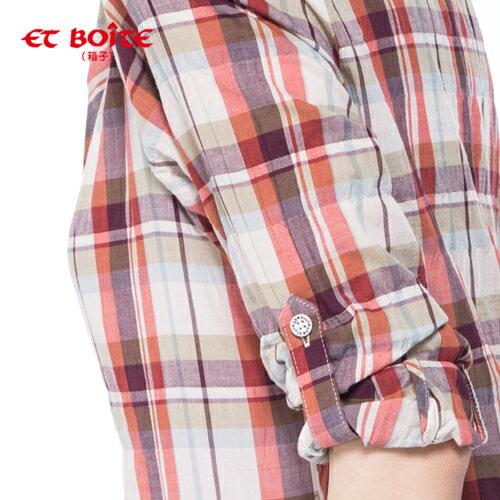 【ET BOîTE 箱子】七分袖牛津格襯衫 1