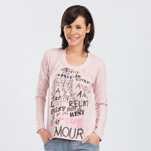 【ET BOîTE 法文: 箱子】U型領長袖T恤 0