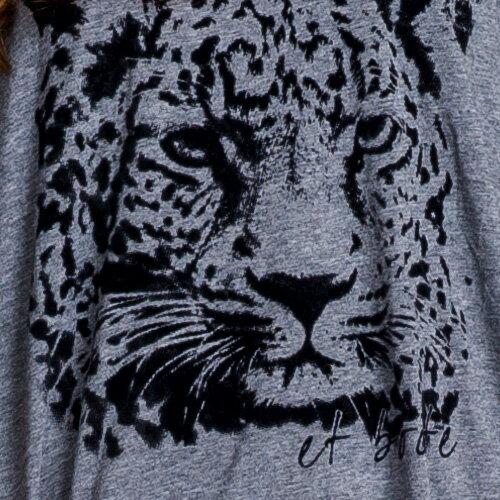 【ET BOîTE  箱子】個性印豹T恤 1