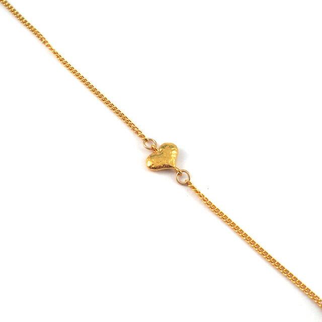 【現貨商品】【CHAN LUU】愛心鍍金純銀腳鍊(CL-AKG-1018YG  0663060000) 1