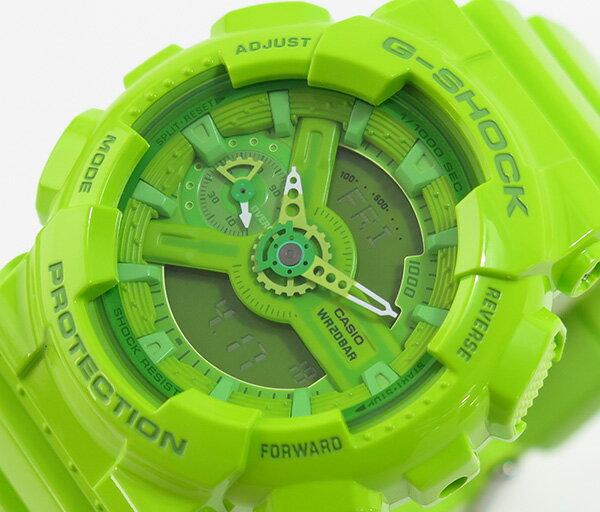 國外代購 CASIO G-SHOCK 摩登翠綠  GMA-110CC-3A   防水 手錶 腕錶 電子錶 男女錶 1