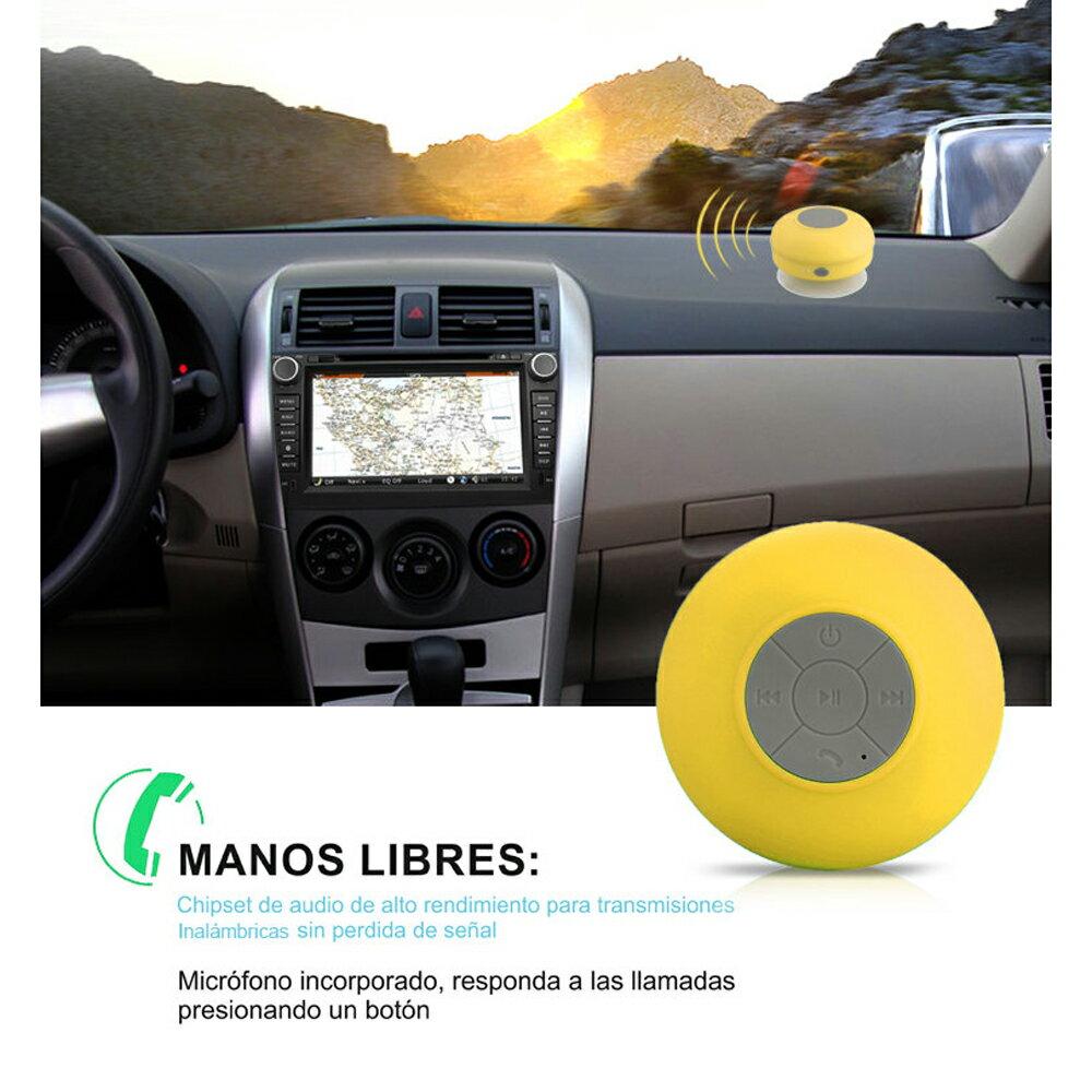 Altavoz Acuático Rosa Waterproof con Ventosa, Bluetooth y Manos Libres 6