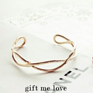 歐美kate Spade風 無限大麻花 開口手環EE43【Gift Me Love 愛禮】正韓國製