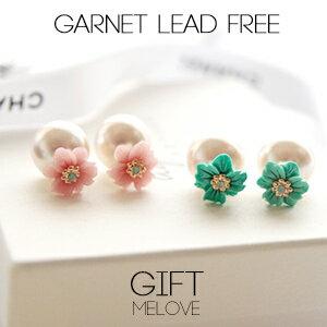 立體花朵 耳後珍珠 925純銀耳針 雙面耳環EE68【Gift Me Love 愛禮】高級工藝 歐美迪奧風 正韓國製
