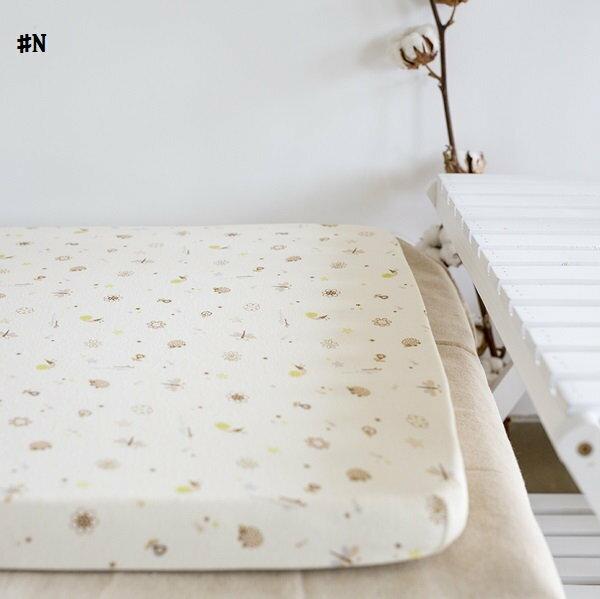 嬰兒【精梳棉】床包。嬰兒床單。嬰兒床罩-N米色小蝸牛