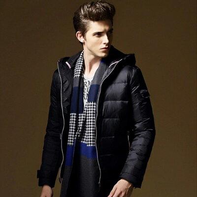 羽絨外套連帽夾克~防風保暖 白鴨絨男裝3色73ij7~ ~~米蘭 ~ ~  好康折扣