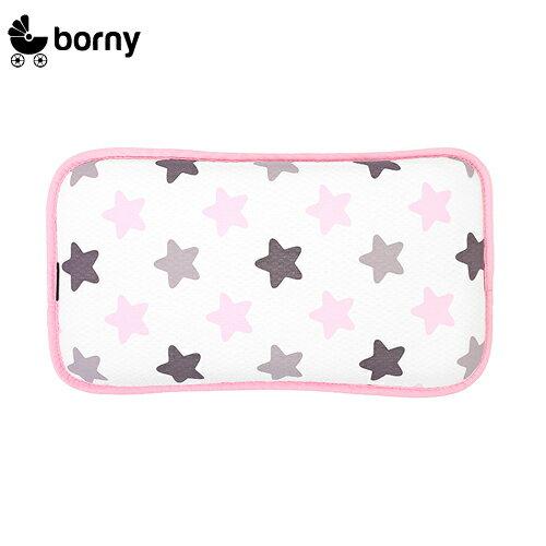 韓國【 Borny 】 3D立體酷涼透氣幼兒枕 (蜜糖粉)(6個月~12歲皆適用) - 限時優惠好康折扣