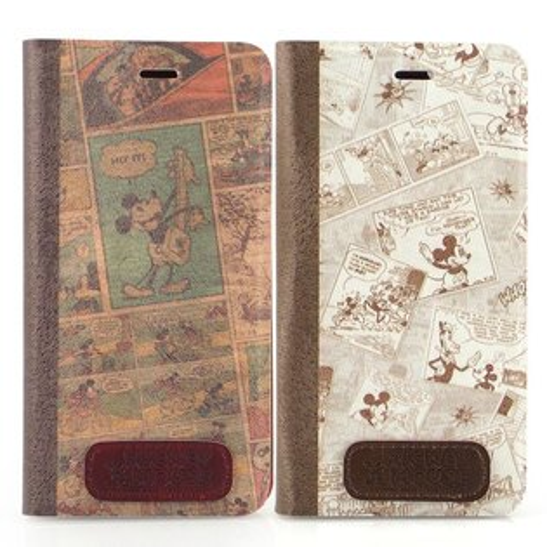 Disney iPhone 6 Plus/6s Plus 時尚復古漫畫風隱磁側掀皮套