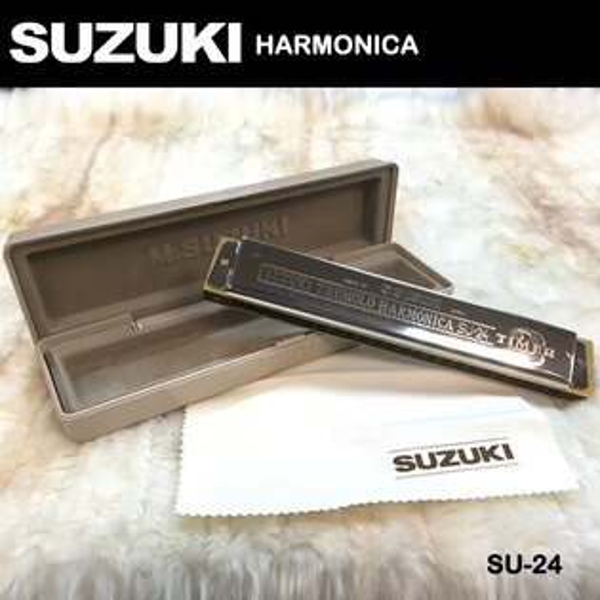 【非凡樂器】『SUZUKI』初級24孔膠格複音口琴SU-24/日系品牌音質清揚優美