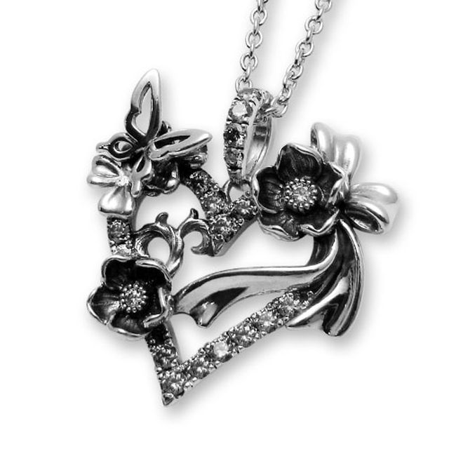 【海外訂購】【KONRON】祈願之心寶石純銀項鍊 50cm(KRP0634-Cz  03167000Q8) 0