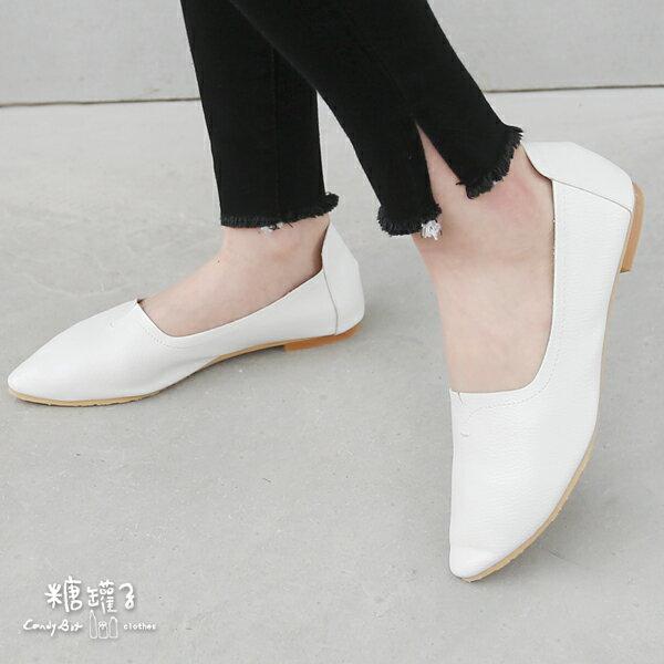 ★原價1400下殺750★糖罐子縫線尖頭平底鞋→預購【DD1583】 1
