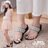 ★399免運★格子舖*【KD808B】MIT台灣製 摩登閃耀寶石幾何圖案 4CM楔型 坡跟鞋 套指拖鞋 2色 0