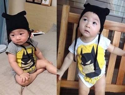童連身衣兔裝 夏款蝙蝠俠連身衣(含帽子)