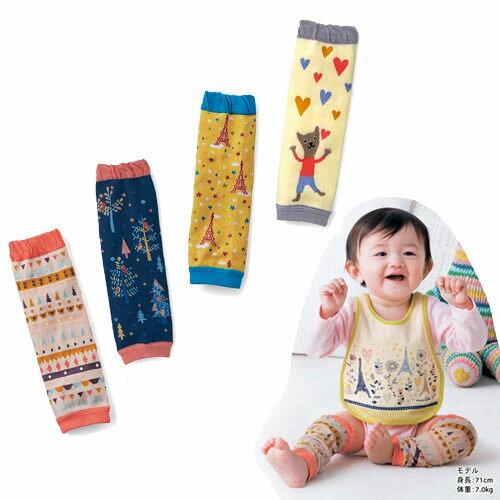 嬰兒護膝套 兒童繽紛花紋護膝防摔襪(D)