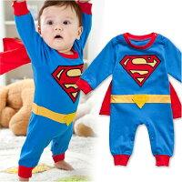 蝙蝠俠與超人周邊商品推薦長袖連身兔裝 超人長袖連身衣(含披風)