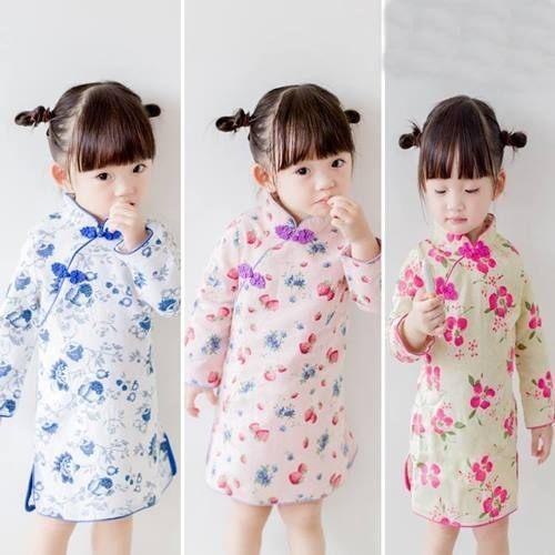 童連身裙 女童復古風旗袍