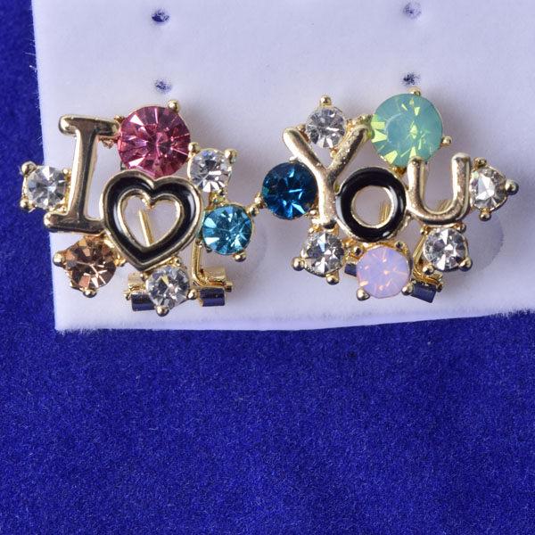 R105 傑克鑽 耳環 簡單時尚 璀璨 鑲 鑽 大方 簡約 耳環 一對 50元 超便宜