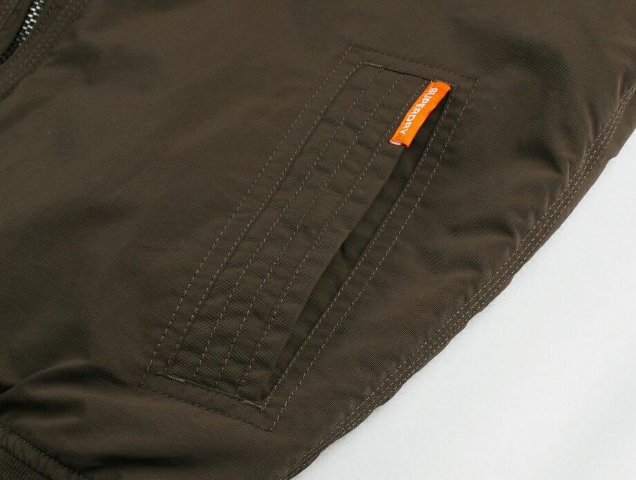 [男款]英國名品代購 極度乾燥 Superdry RSD Lite Pilot MA-1男士防水防風飛行外套夾克風衣 深卡其 5