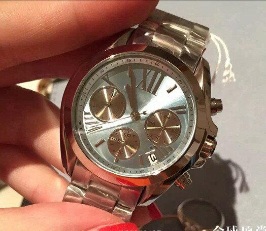 美國Outlet 正品代購 Michael Kors MK 簡約淺藍三環計時手錶腕錶 MK6098 4