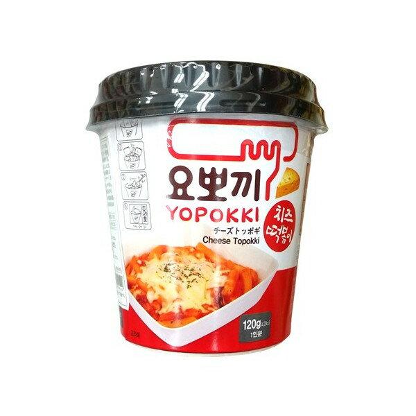 有樂町進口食品 韓國平民美食 韓國Yopokki 起司辣炒年糕即食杯K58 8809054400192 0
