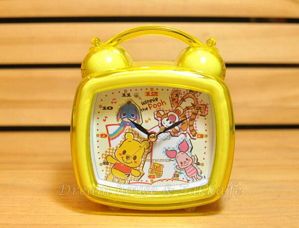 日本正版 Disney 迪士尼 小熊維尼好朋友 附燈鬧鐘《 可自由切換鈴聲或音樂喔 》★ Zakka'fe ★