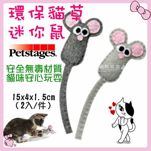 +貓狗樂園+ Petstages【Energizing。魔力貓草系列。318。環保貓草迷你鼠。2入】200元 0