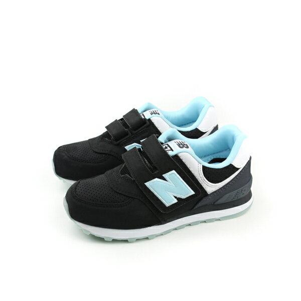 New Balance 574系列 跑鞋 黑 童 no050