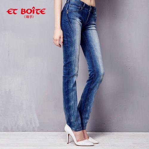 【ET BOîTE 箱子】輕磅輕旅丹寧褲(深藍) 0