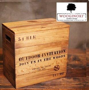Wooginoki 原木儲藏盒/野餐籃/露營收納箱/收納木箱/風格露營 W012 台北山水